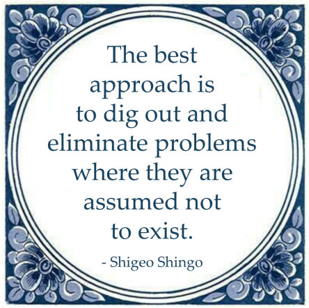 shigeo shingo best approach problems eliminate exist
